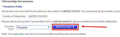 "Click ""Add Document"" to enter your document's details."