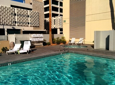 Pool area at The D.