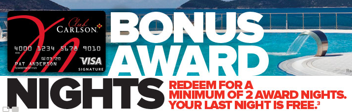 club carlson bonus award night devaluation