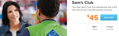 Living Social Sams Club