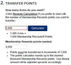 Membership Rewards Transfer Bonus Avios