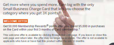 amex business gold best offer
