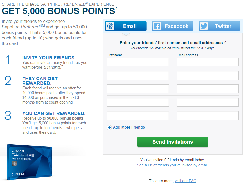 Chase Sapphire Preferred Refer A Friend