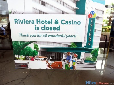 riviera hotel and casino closing photos