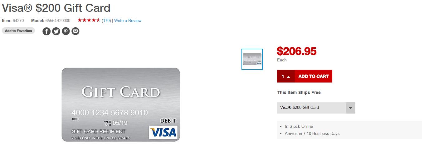 staples 200 visa gift cards return