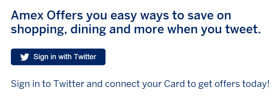 Amex Offers Multiple Twitter Accounts