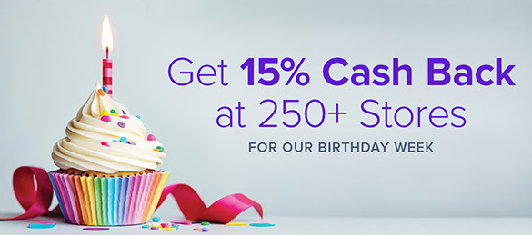Ebates Birthday Week 2016