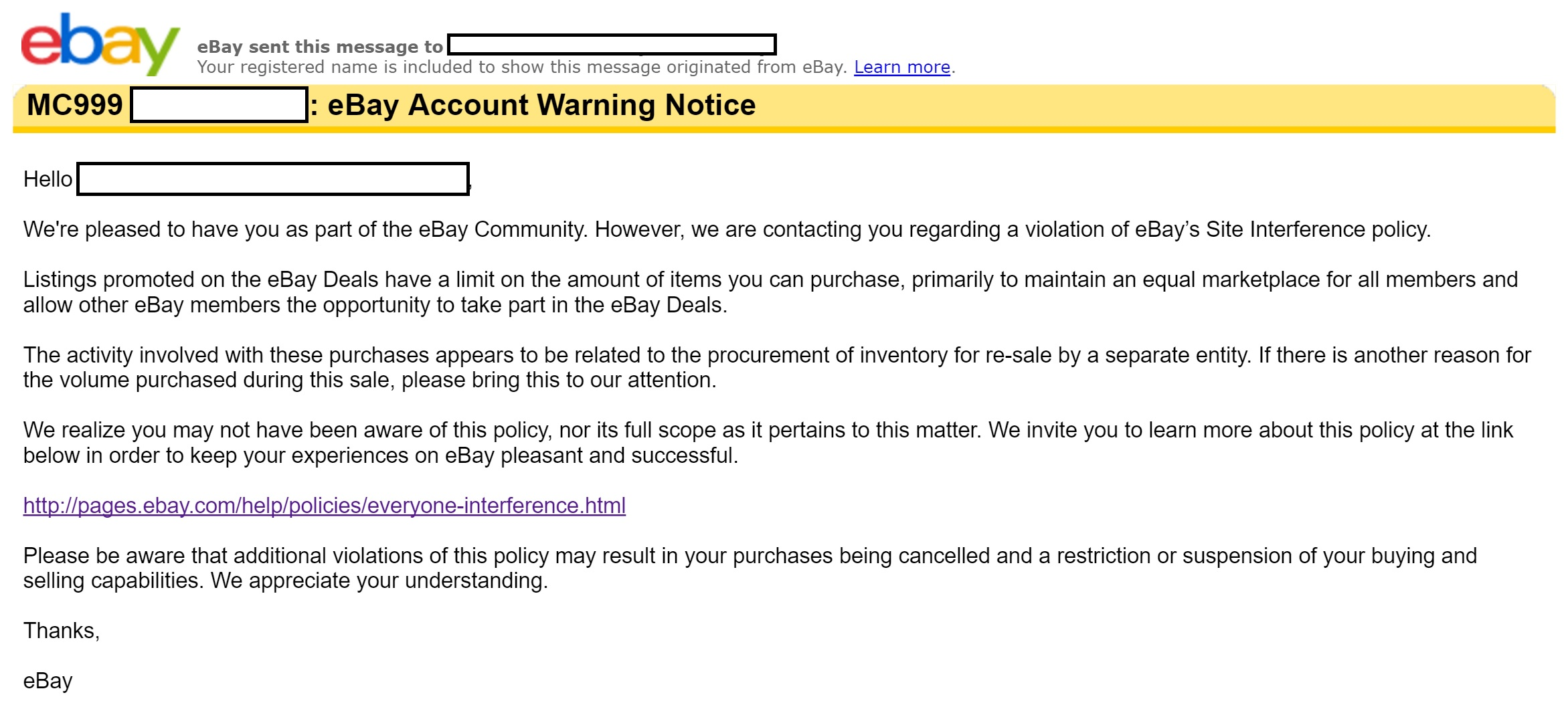 Warning Ebay Can Will Take Away Your Ebay Bucks Not Tell You Why