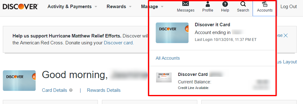 Discover Credit Card Sign In >> Multiple Discover Accounts Same Login How To Set Them Up Quickly