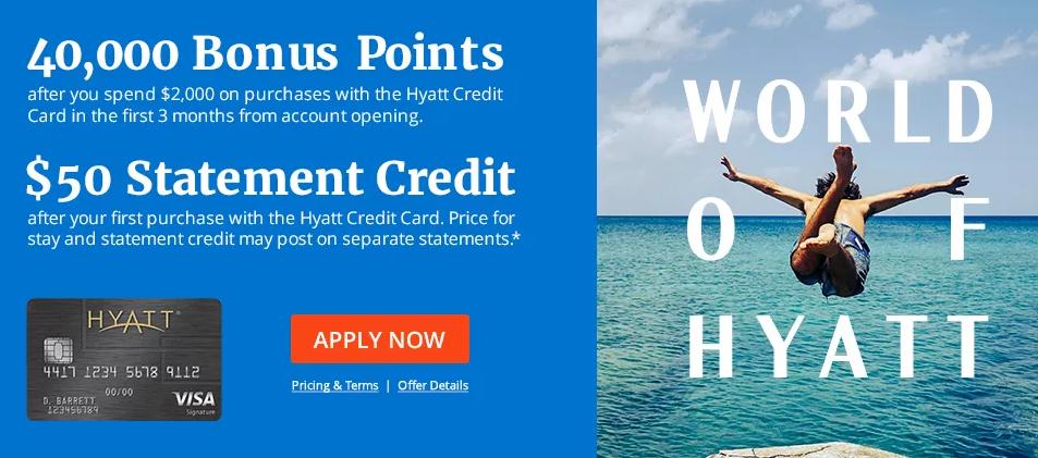 Chase Hyatt offer 40K 5K $50