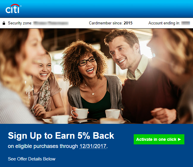 Citi Thank You 5x Bonus Offer