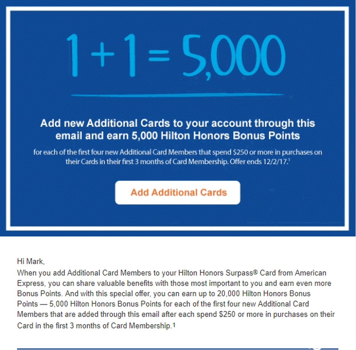 New American Express Surpass Authorized User Offer