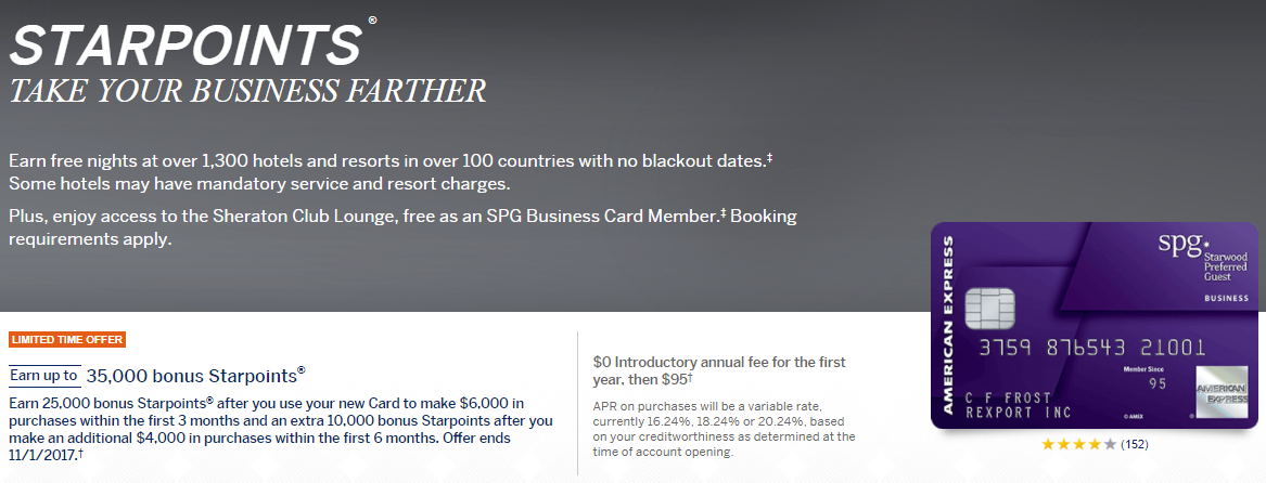 Amex SPG Business Card 35K Signup Bonus is Back! - Miles to Memories