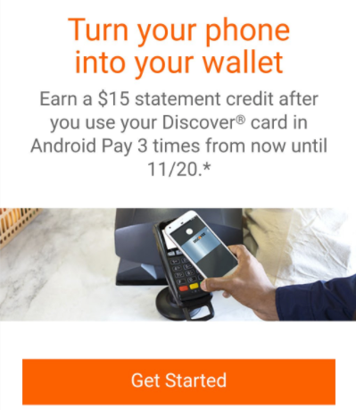 discover android samsung pay promo