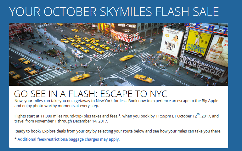 DElta Flash Sale: NYC Travel