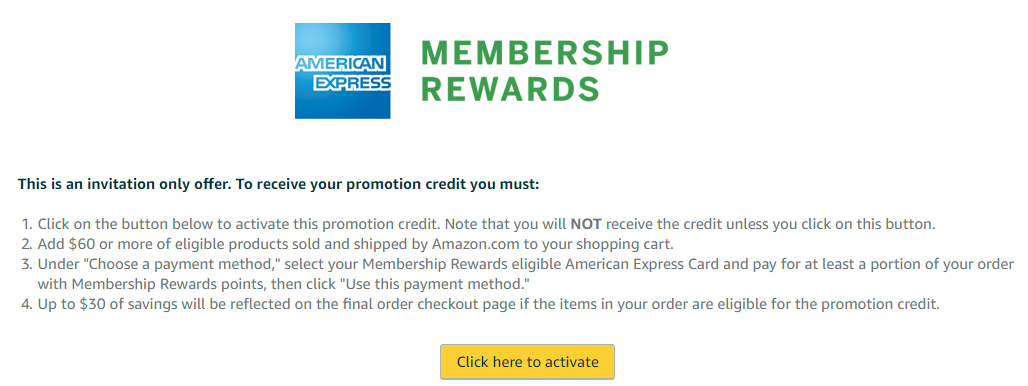 $11 Off Your $11 Amazon Purchase with Amex Membership Rewards