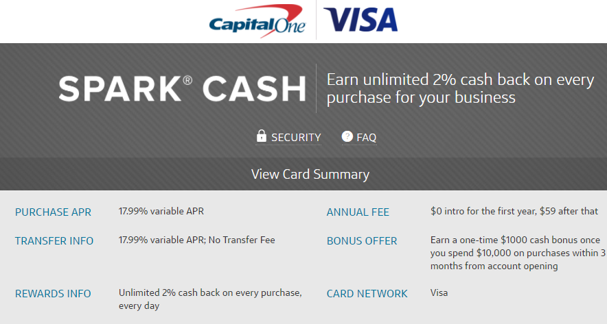 1000 highest ever bonus for capital one spark cash visa business highest ever bonus for capital one spark cash visa business card colourmoves