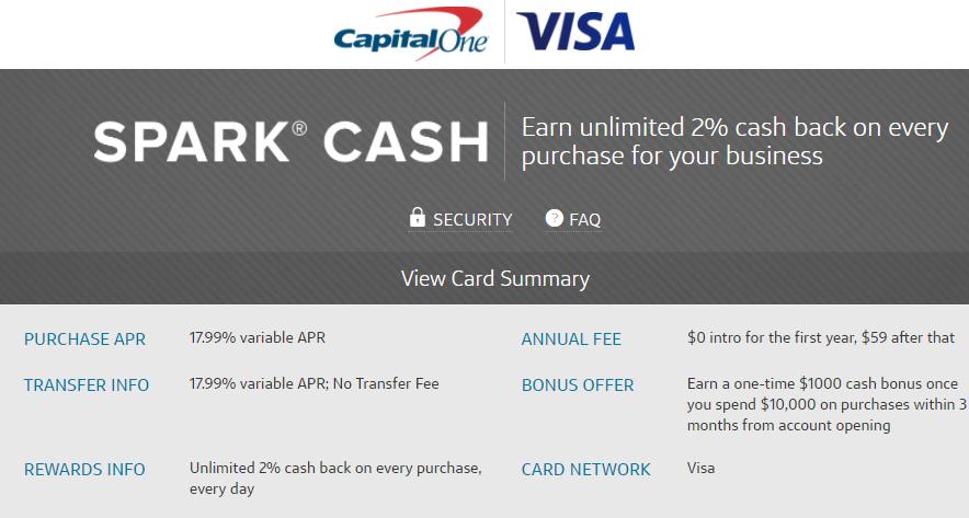 Spark Cash 1000 bonus