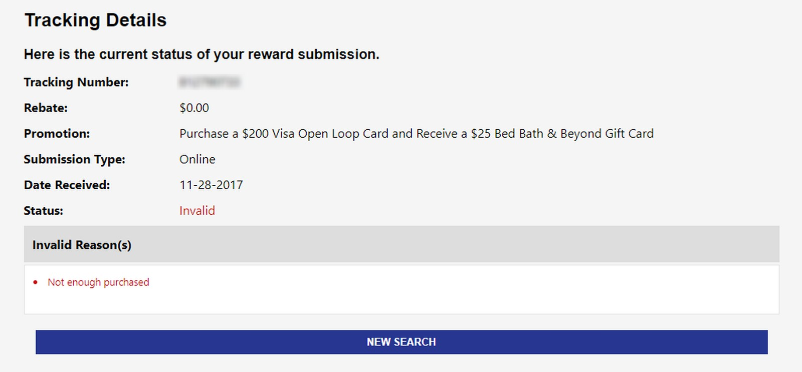 Issues With Bed Bath & Beyond Rebate Submission