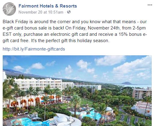 Fairmont E-Gift Cards