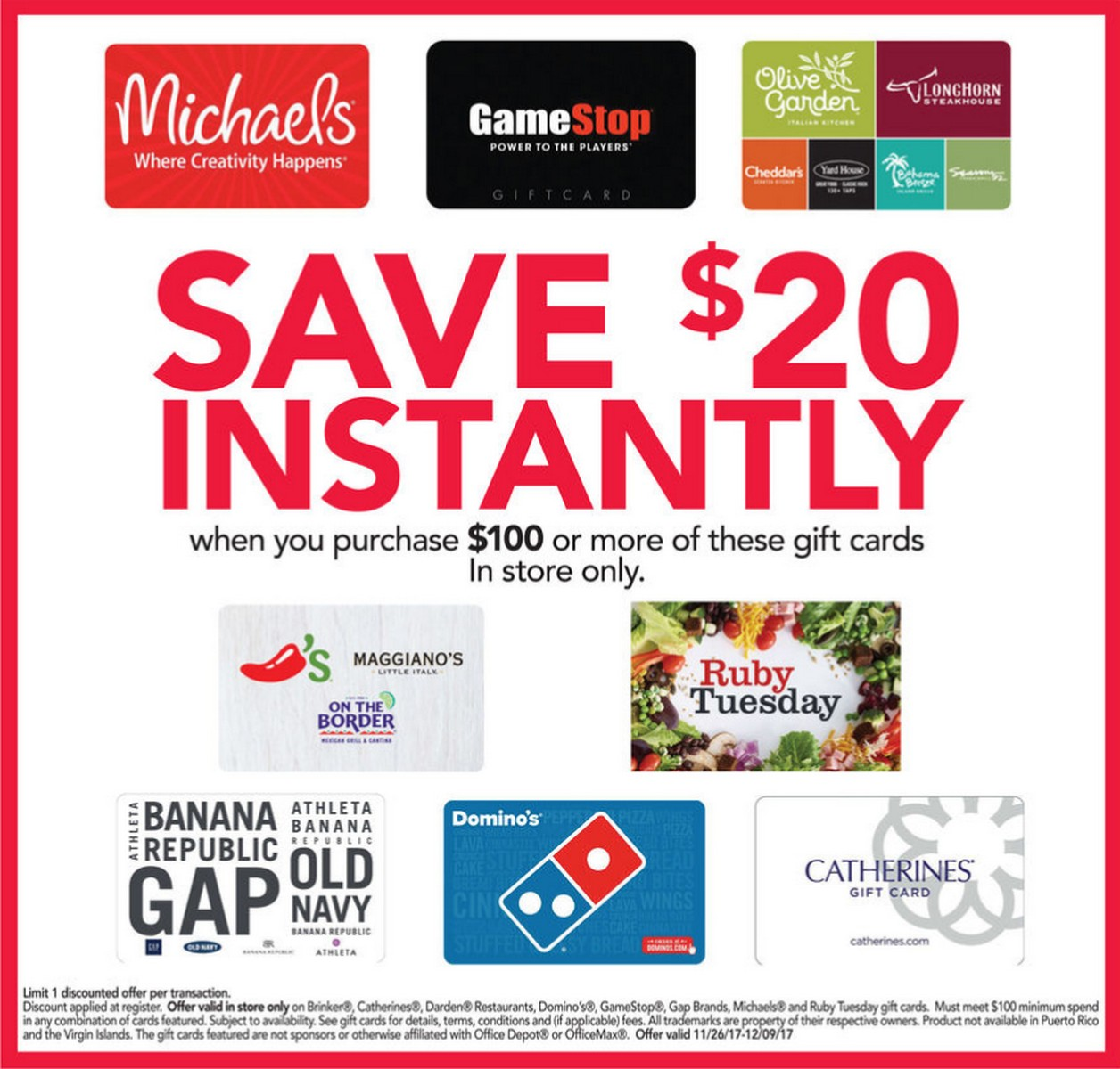 Office Max/Depot 3rd Party Gift Card Sale