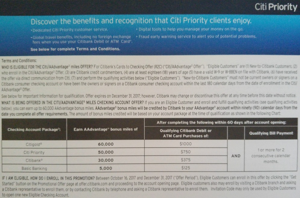 Citi Checking Offers