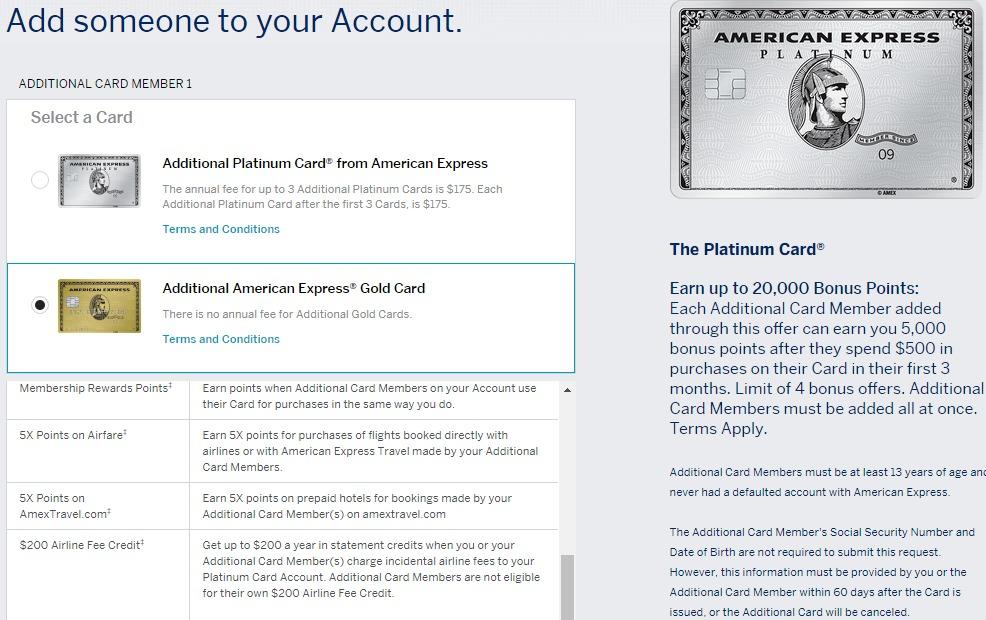 amex platinum authorized user bonus