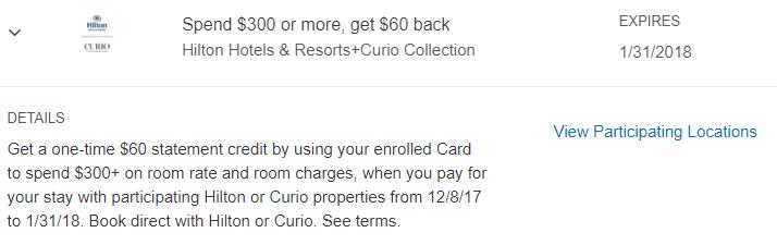 hilton curio amex offer