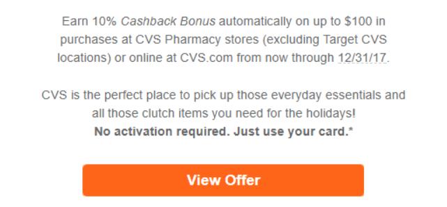 10% Cashback Bonus at CVS