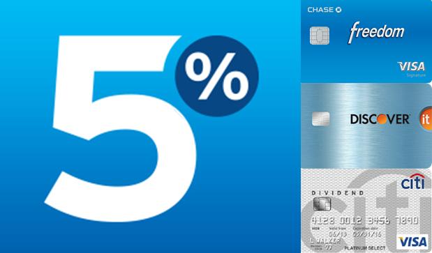 Roundup of 5% Bonus Categories for Q4