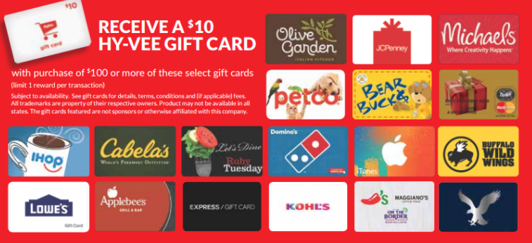 Hy-Vee Gift Card Promotion