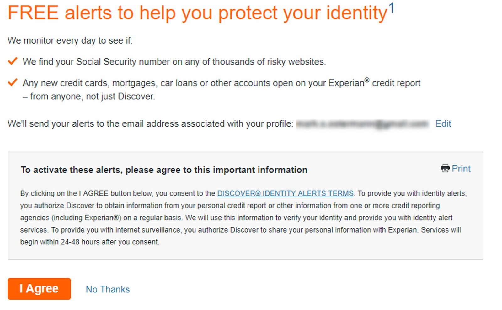 My Experience Enrolling in Discover Alerts