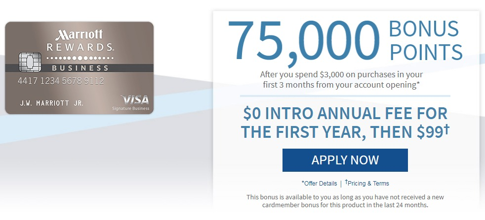 New chase marriott business 75k offer and waived annual for Business credit card chase