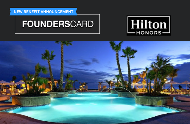 Hilton Benefit Added to FoundersCard Plus Total Rewards Diamond Extended