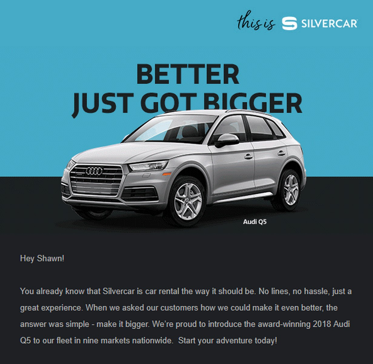 Silvercar Now Offers A SUV, The Audi Q5