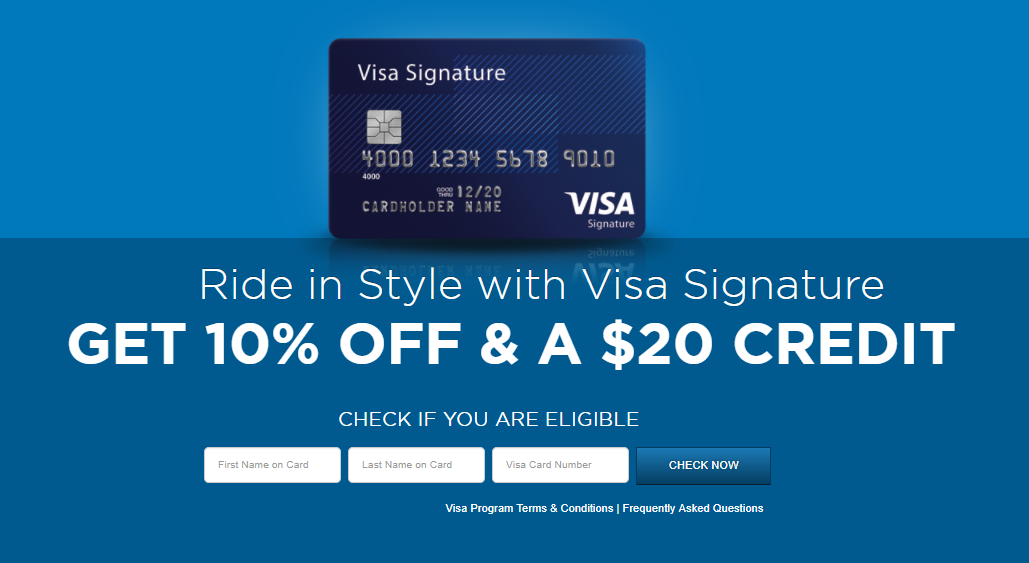 free groundlink rides get 20 or 30 stackable credit with each visa card - Free Visa Card