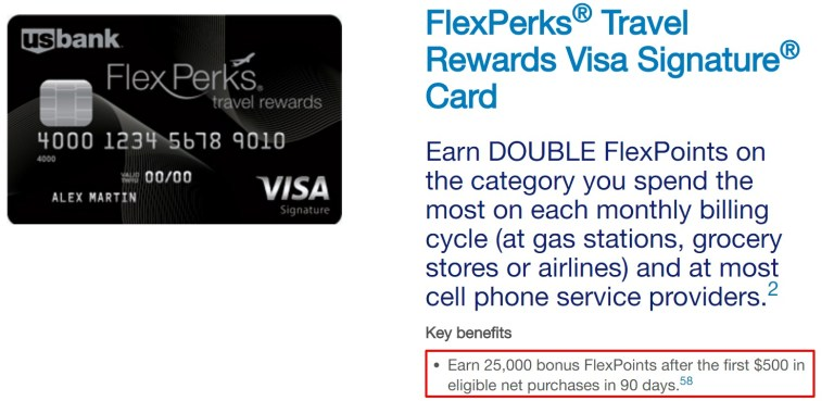 US Bank FlexPerks Travel Rewards Card