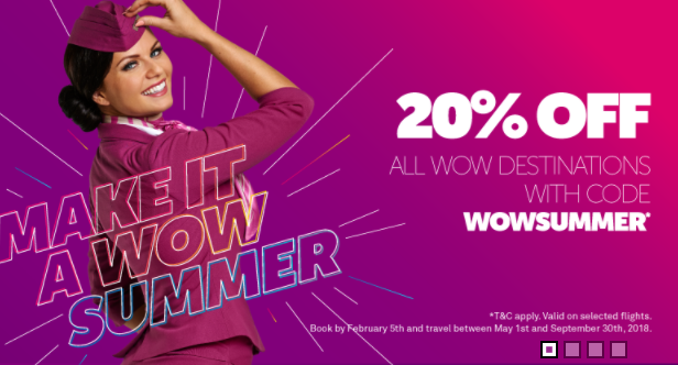 WOW Air Fare Sale
