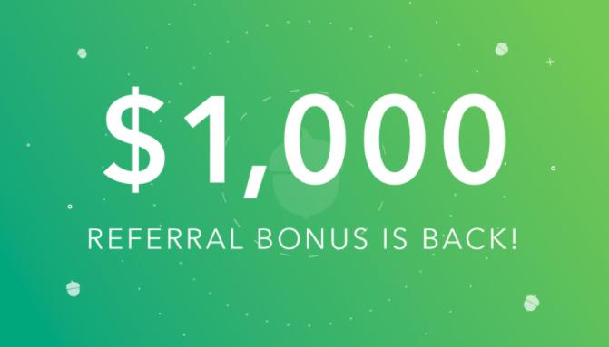 Acorns bonus
