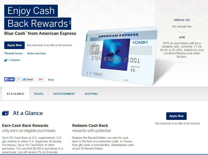Amex Old Blue Cash Dead
