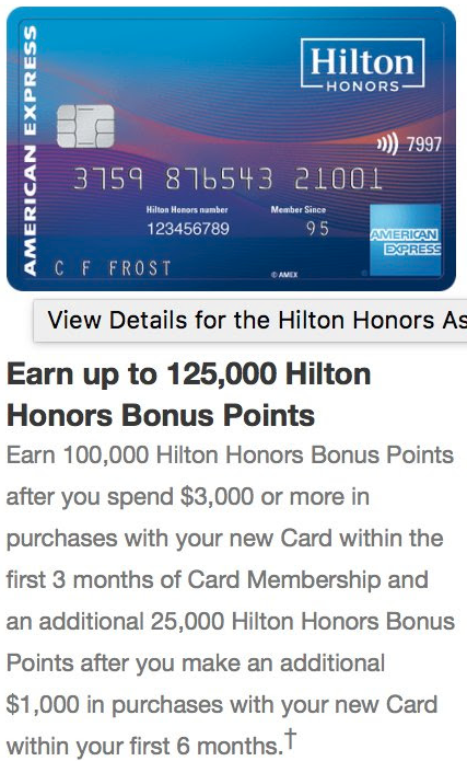hilton ascend 125k offer