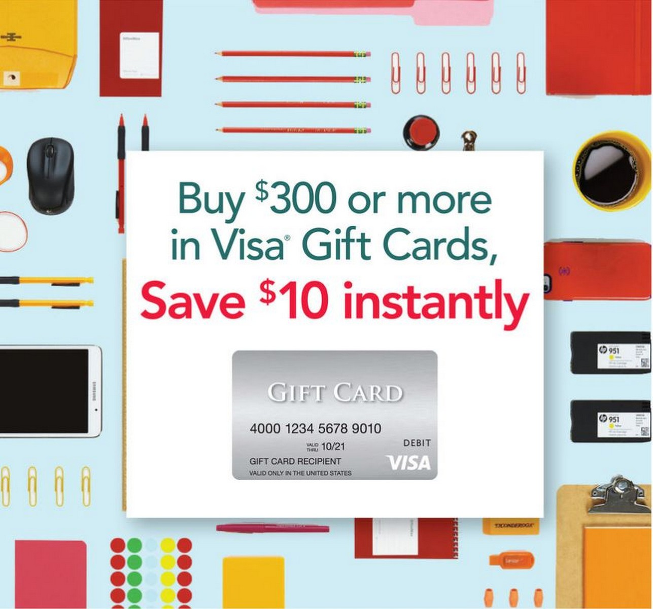 Office Depot Visa Gift Card Rebate