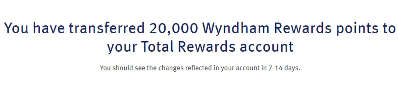 Transfer Points Between Wyndham & Total Rewards
