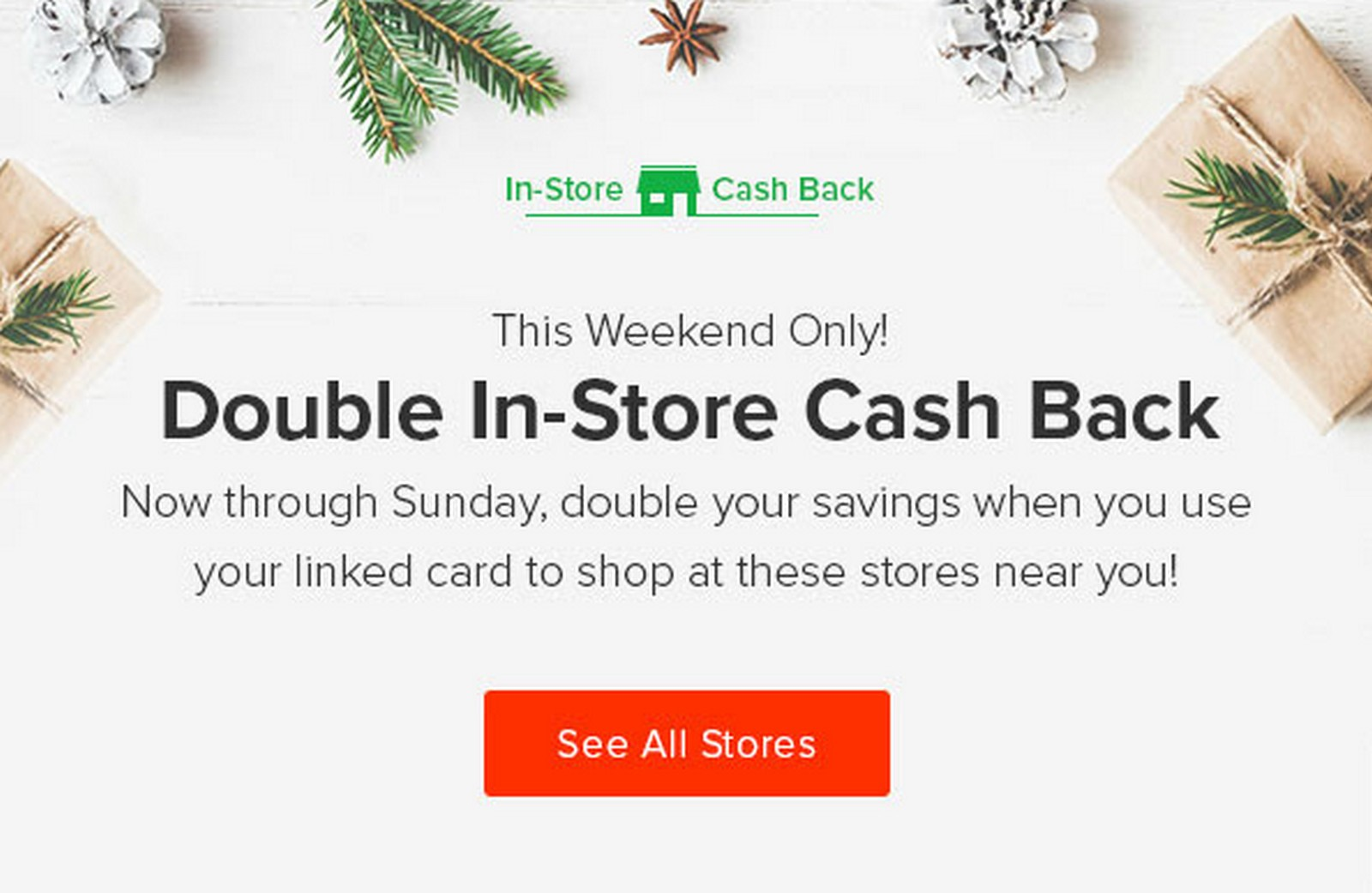 Ebates Double In Store Cashback