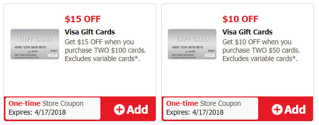 safeway Visa Gift Card Deals