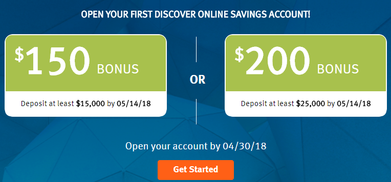 Earn up to $10 with your First Discover Online Savings Account