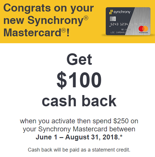 Synchrony Mastercard Spending Offer