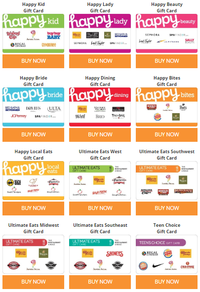 Happy Gift Cards at GiftCardMall
