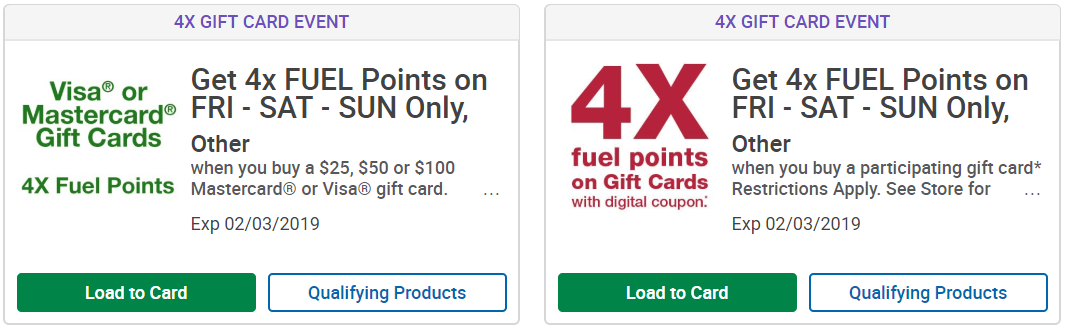 Gift Cards Deals at Kroger