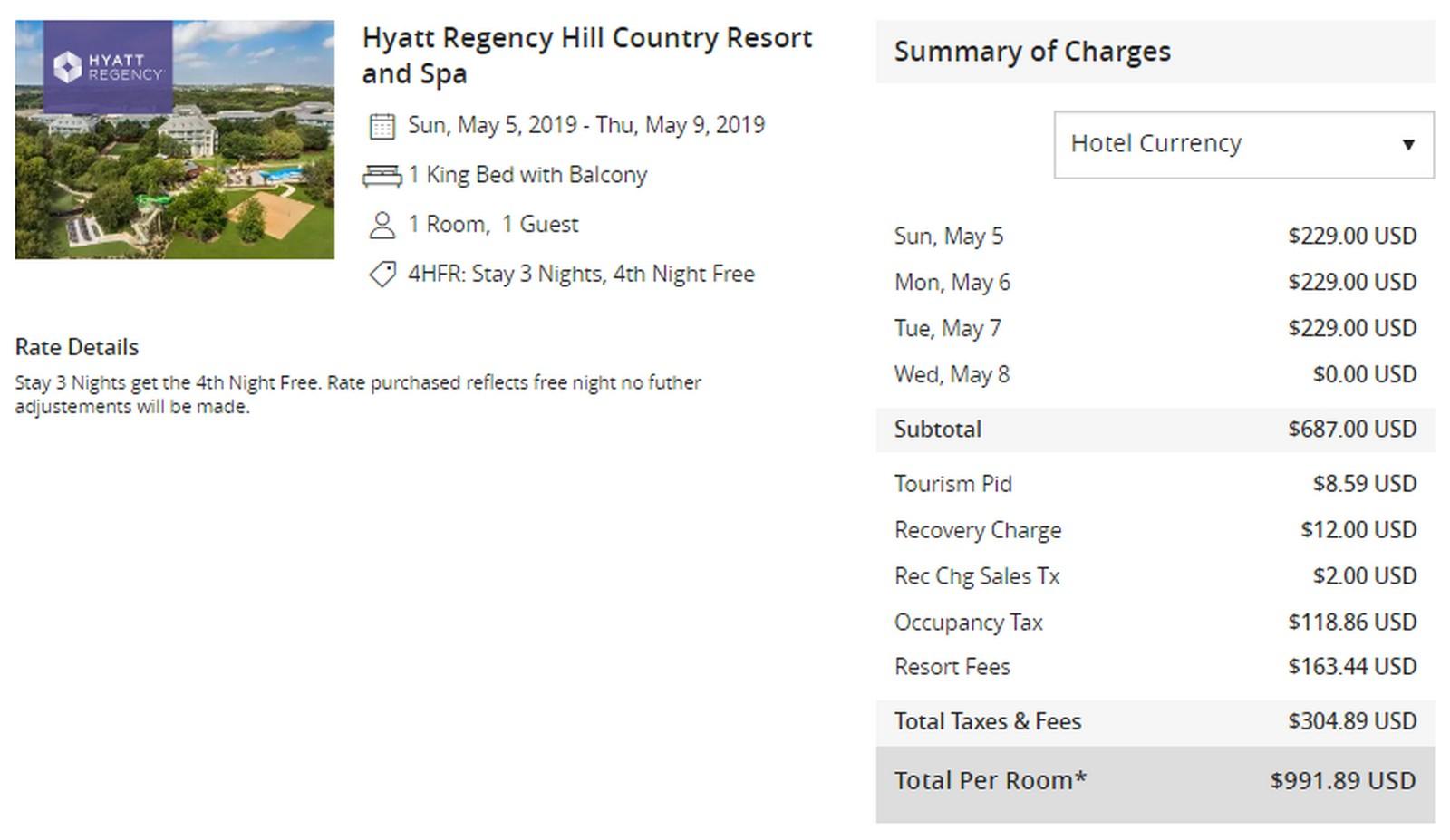 4th Night Free At 94 Hyatt Regency Hotels